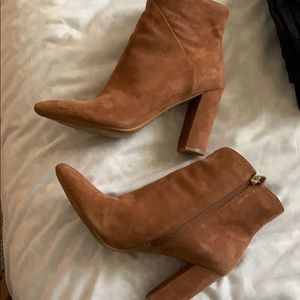 Chestnut Pointed Toe Booties